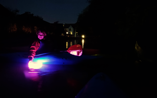 Paddling Light – canoeing at night!